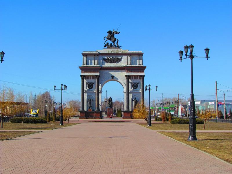 Эконом памятник Арка Удачный Мемориальный комплекс из двух видов гранитов Перово